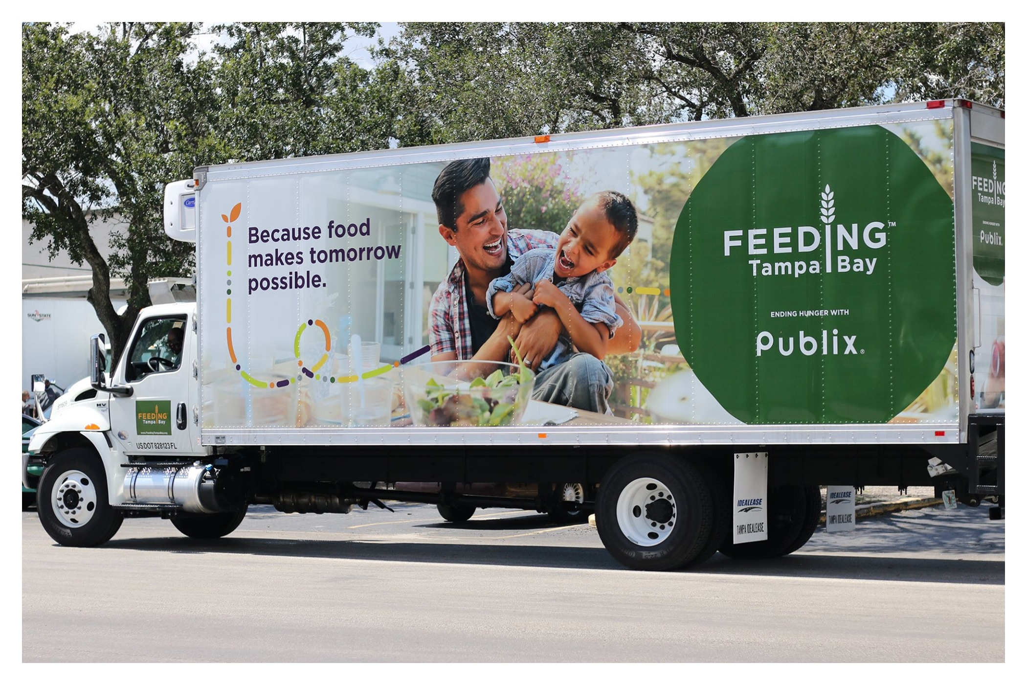 Photo of the Publix-sponsored truck from the Feeding Tampa Bay truck fleet