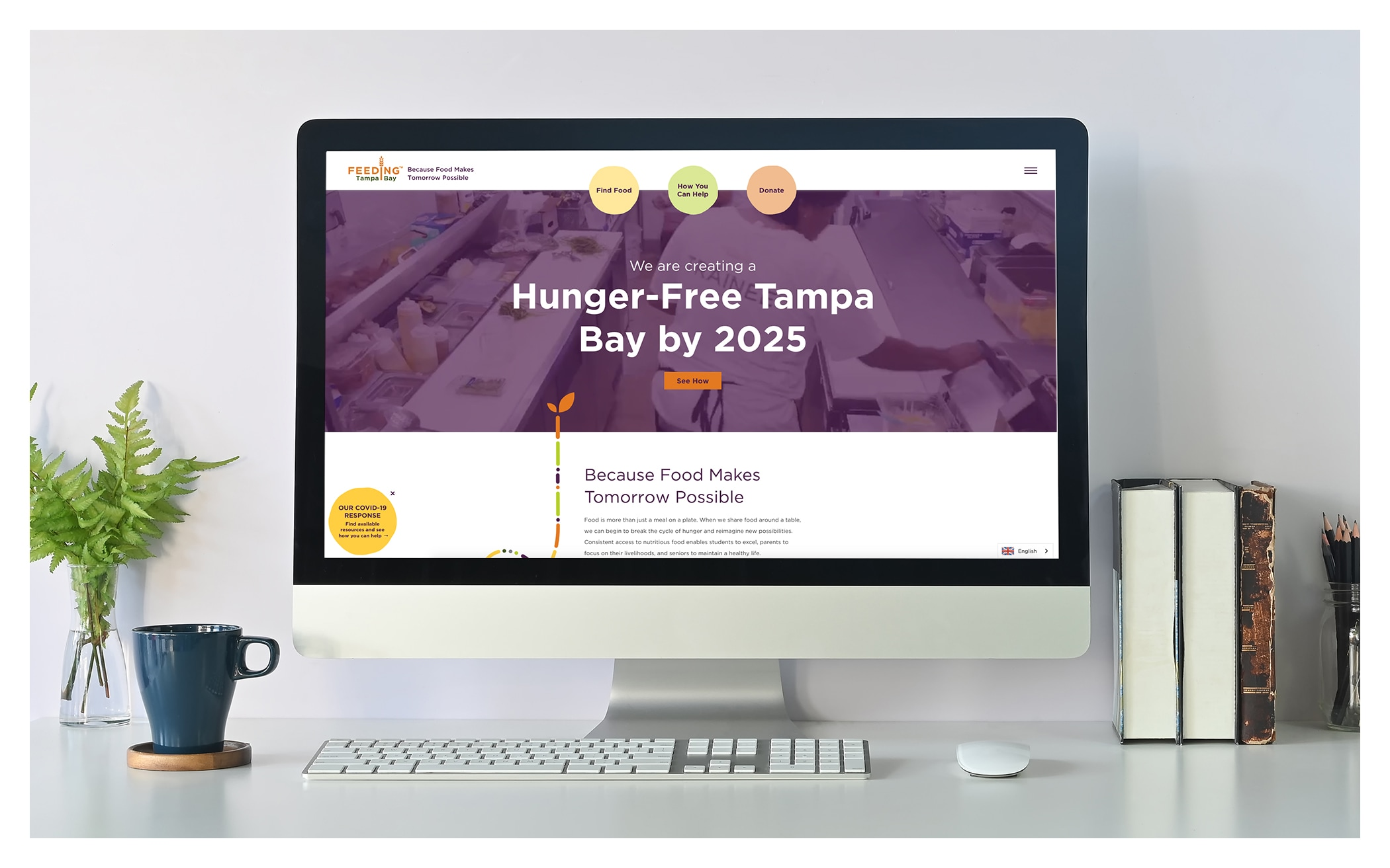 Image of the Feeding Tampa Bay Website on a computer screen