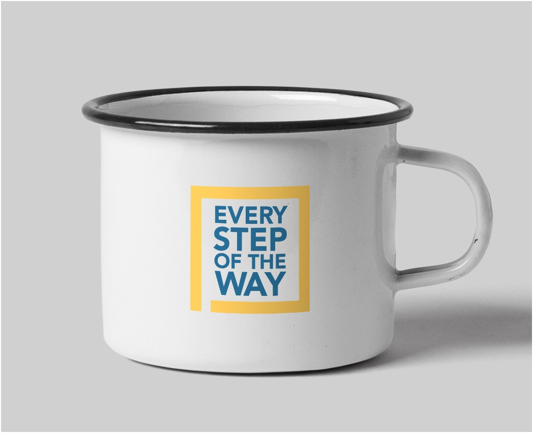 Photo of Every Step of the Way branded Coffee Mug for Florida Cancer Specialists