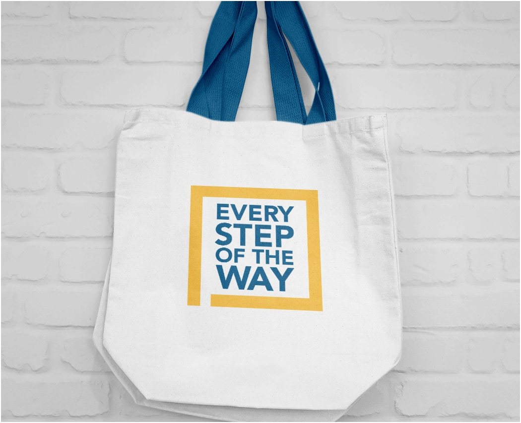 Photo of Every Step of the Way branded Tote Bag for Florida Cancer Specialists