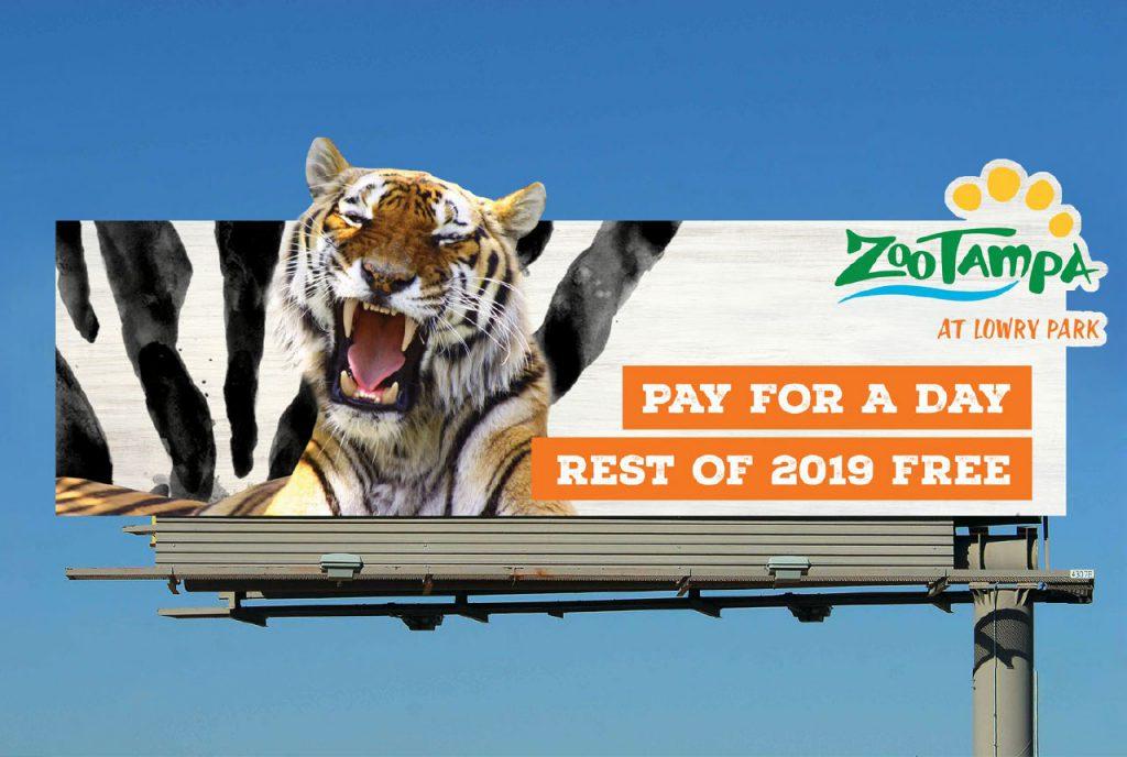 ZooTampa Rebrand Billboard
