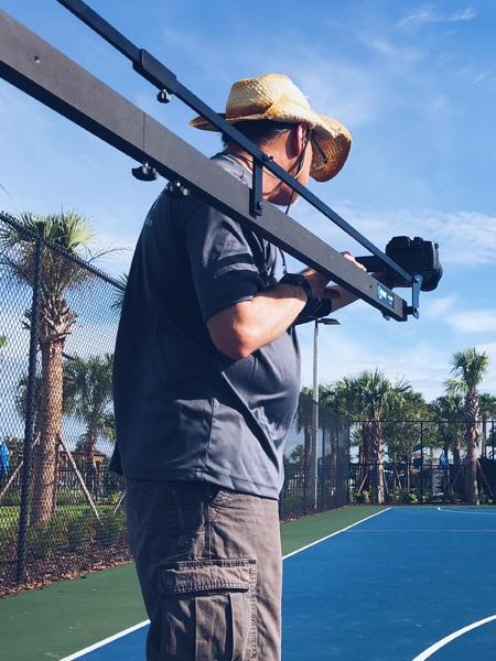 Glenn behind the camera on a photo shoot at Bexley