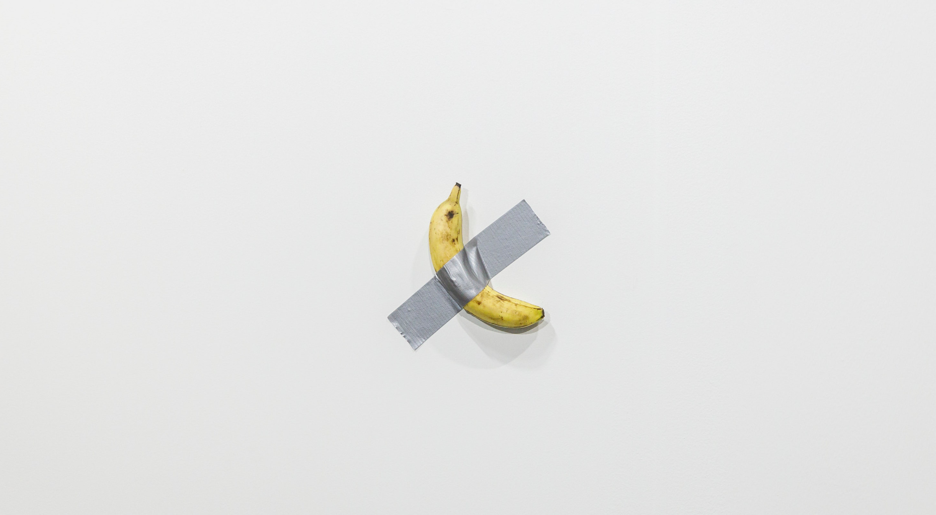 Banana secured with duct tape