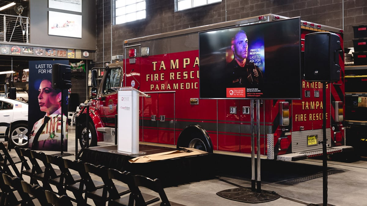 Crisis Center of Tampa Bay press conference focused on PTSD for first responders