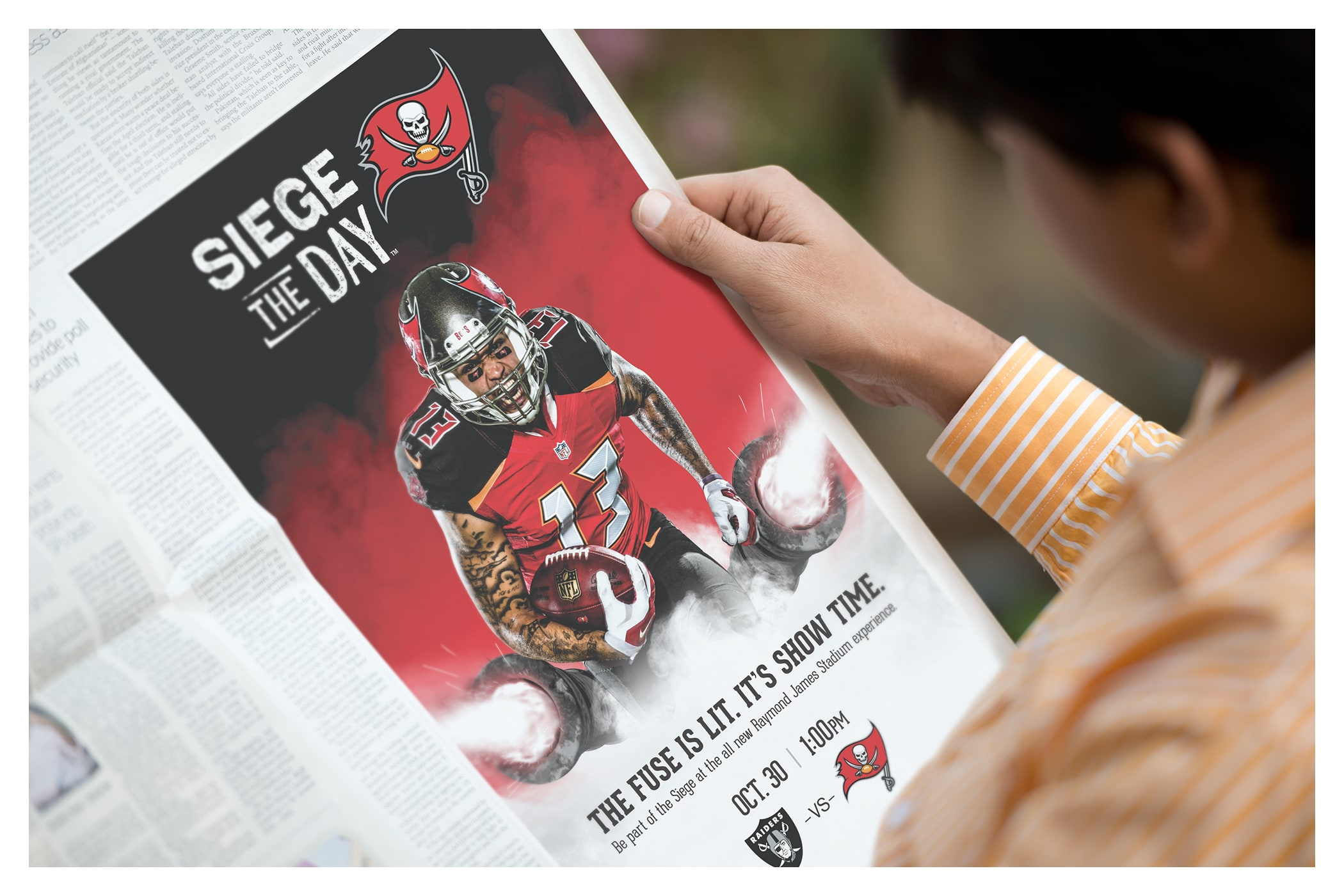 Photo of Siege the Day ad in newspaper