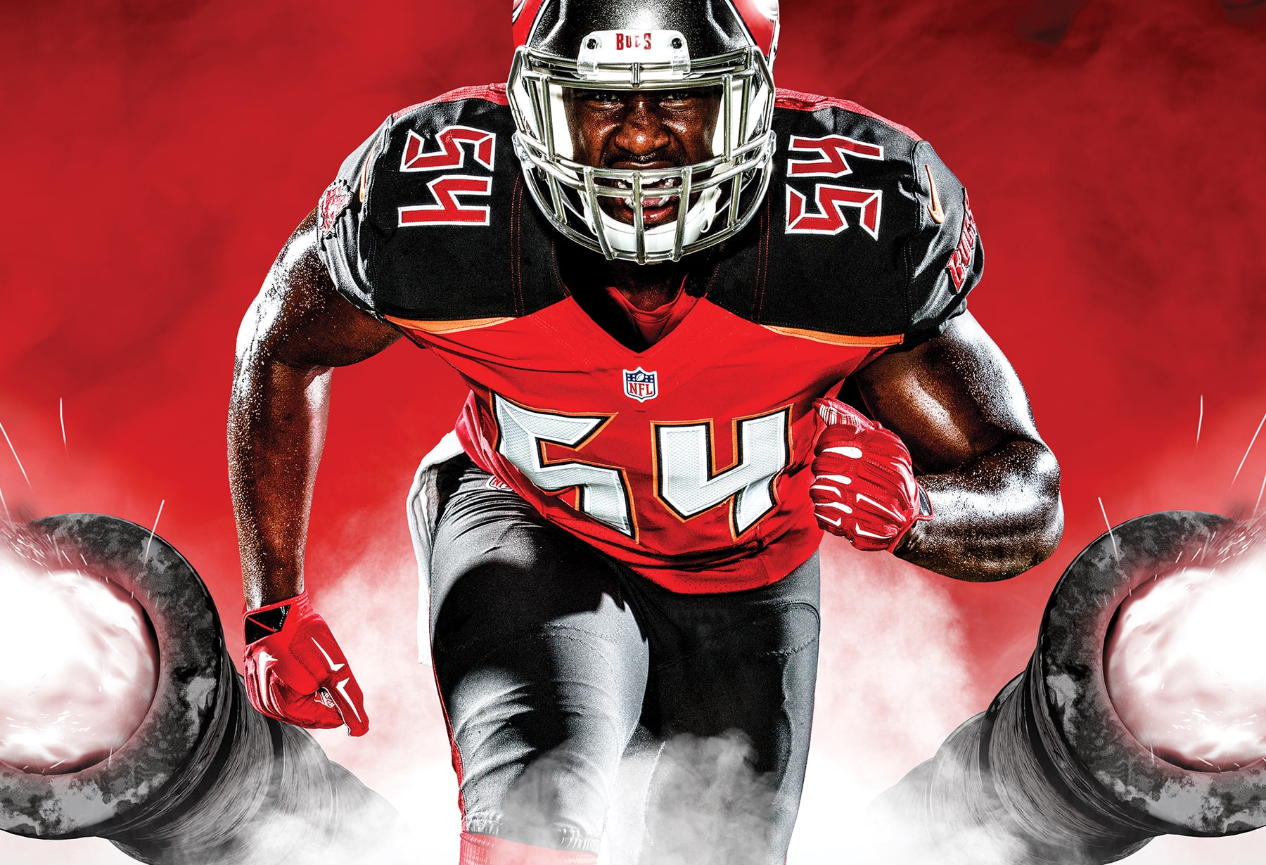 Sample creative asset for the Tampa Bay Buccaneers Siege the Day campaign