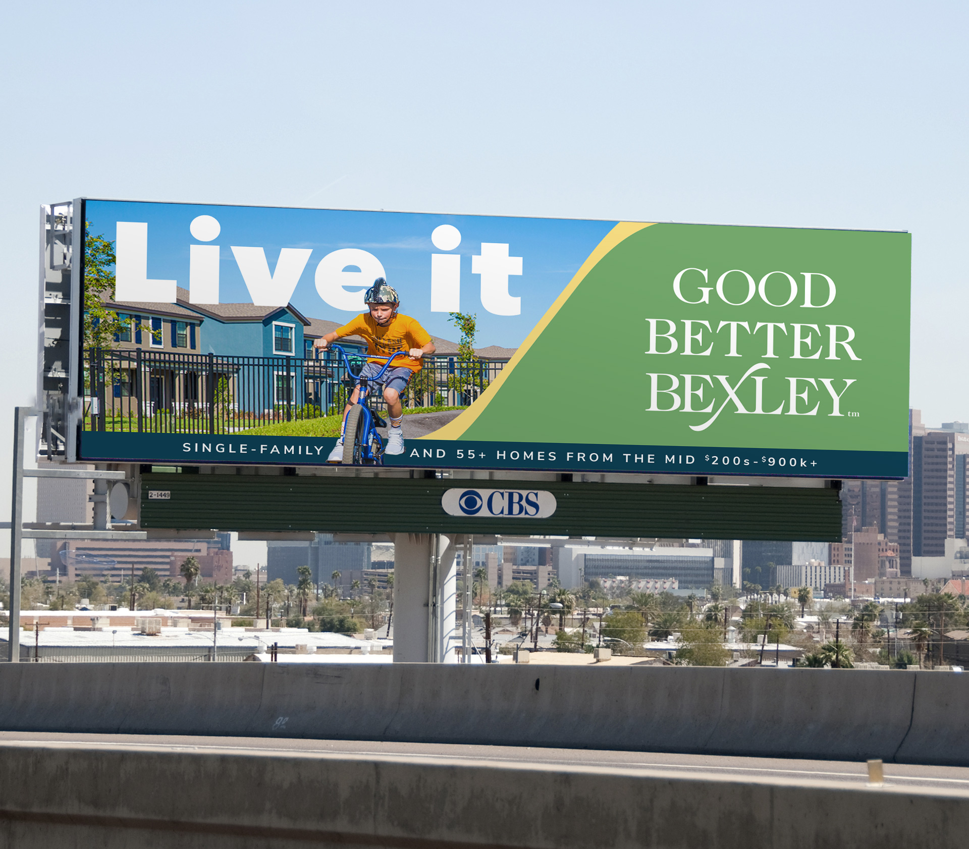 Billboard advertisement for Bexley by Newland