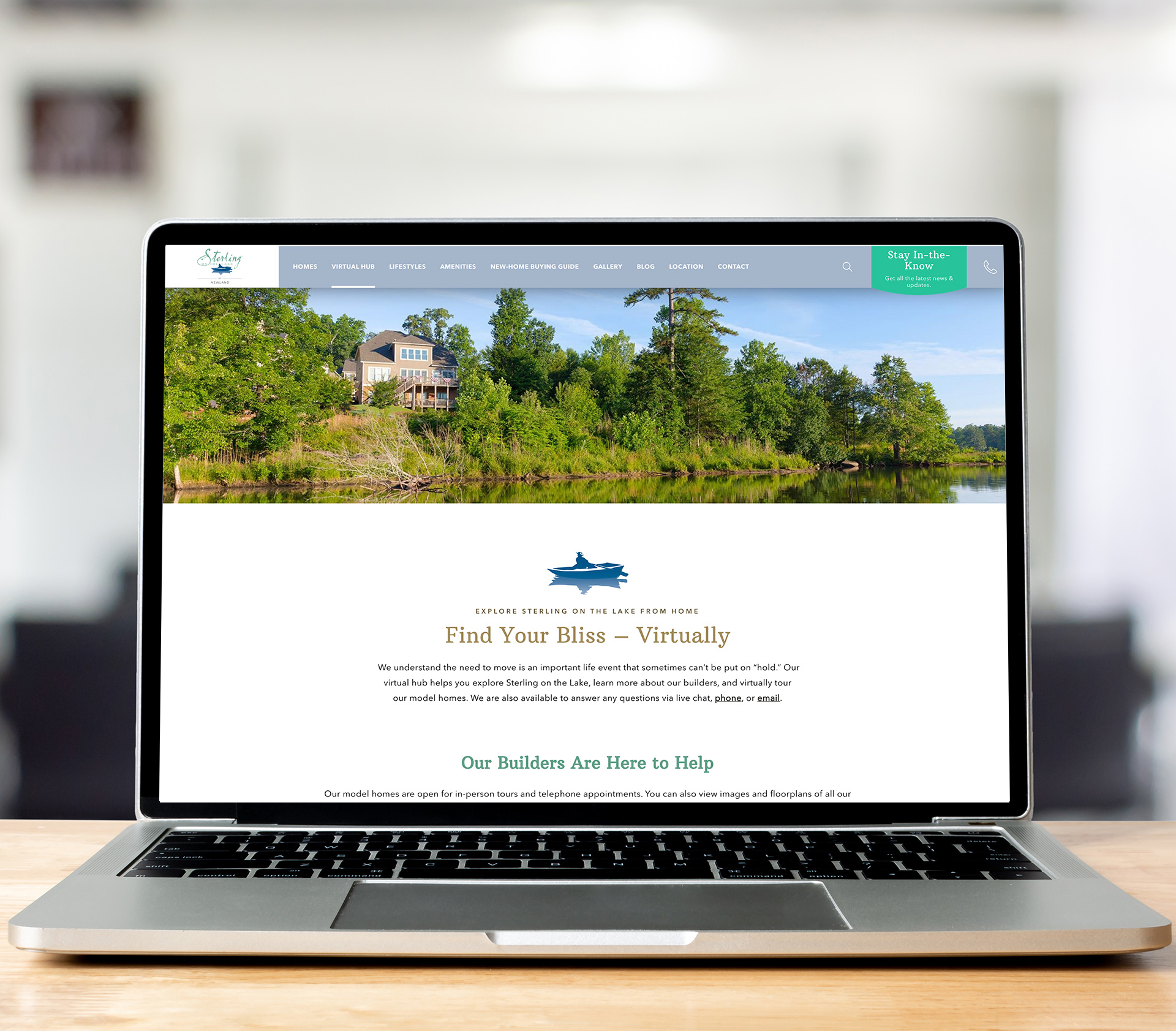 Website for Sterling on the Lake by Newland