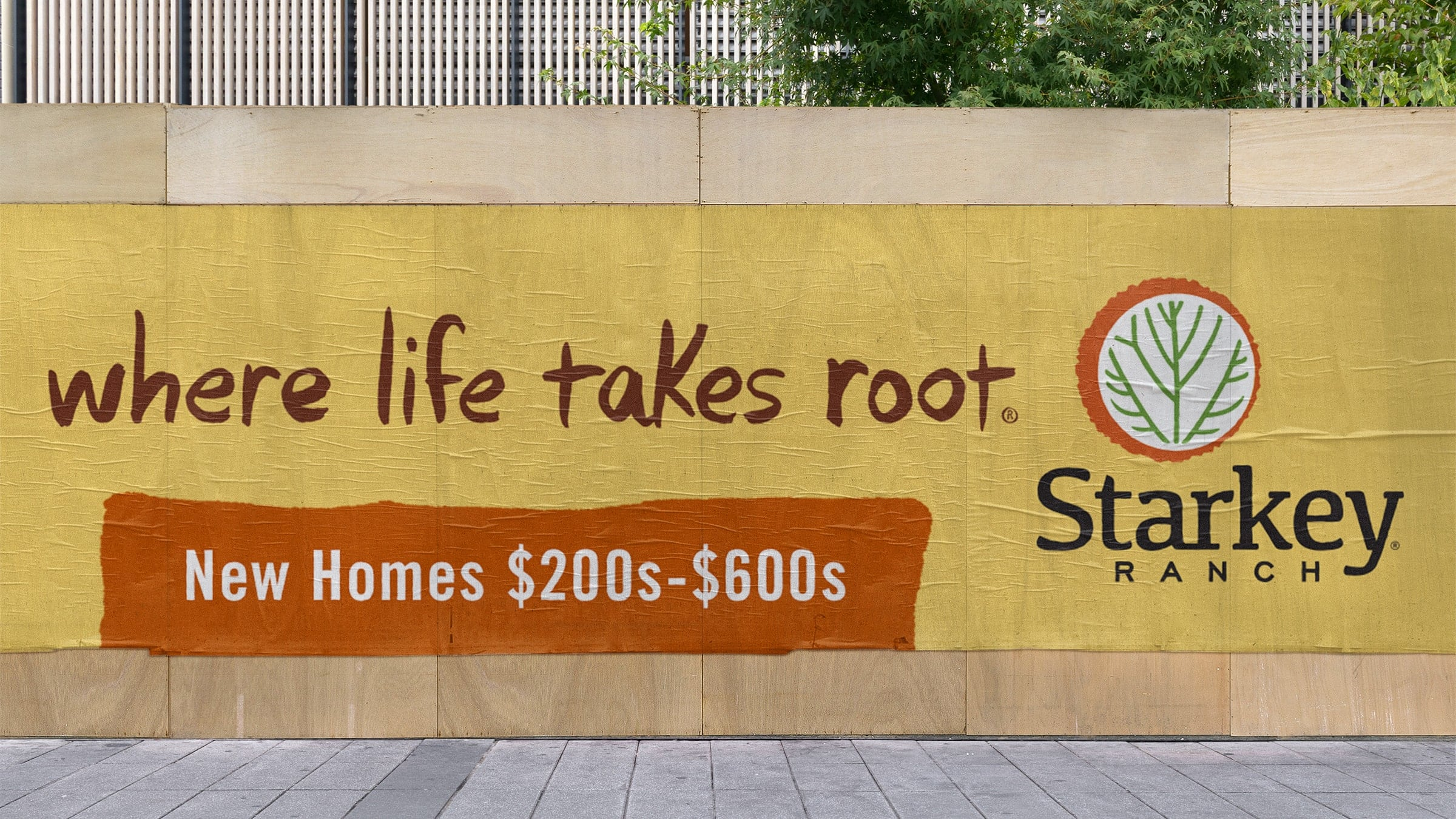 Starkey Ranch billboard - Where Life Takes Root