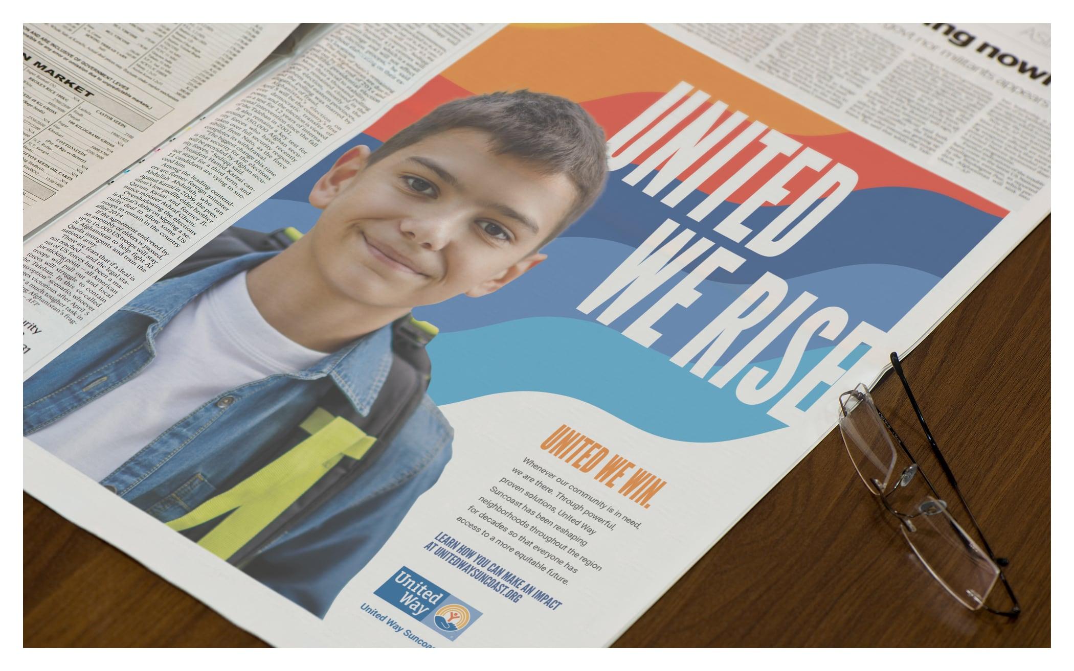 United Way Suncoast Newspaper Ad