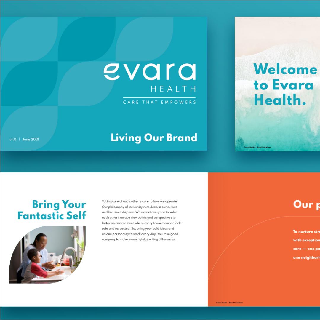 Evara Health marketing collateral examples