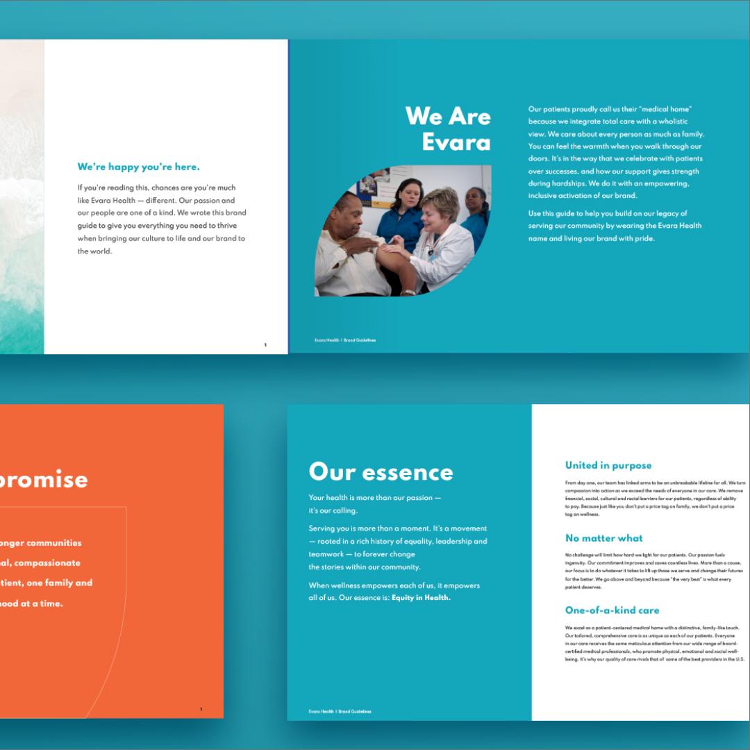 Evara Health brochure pages