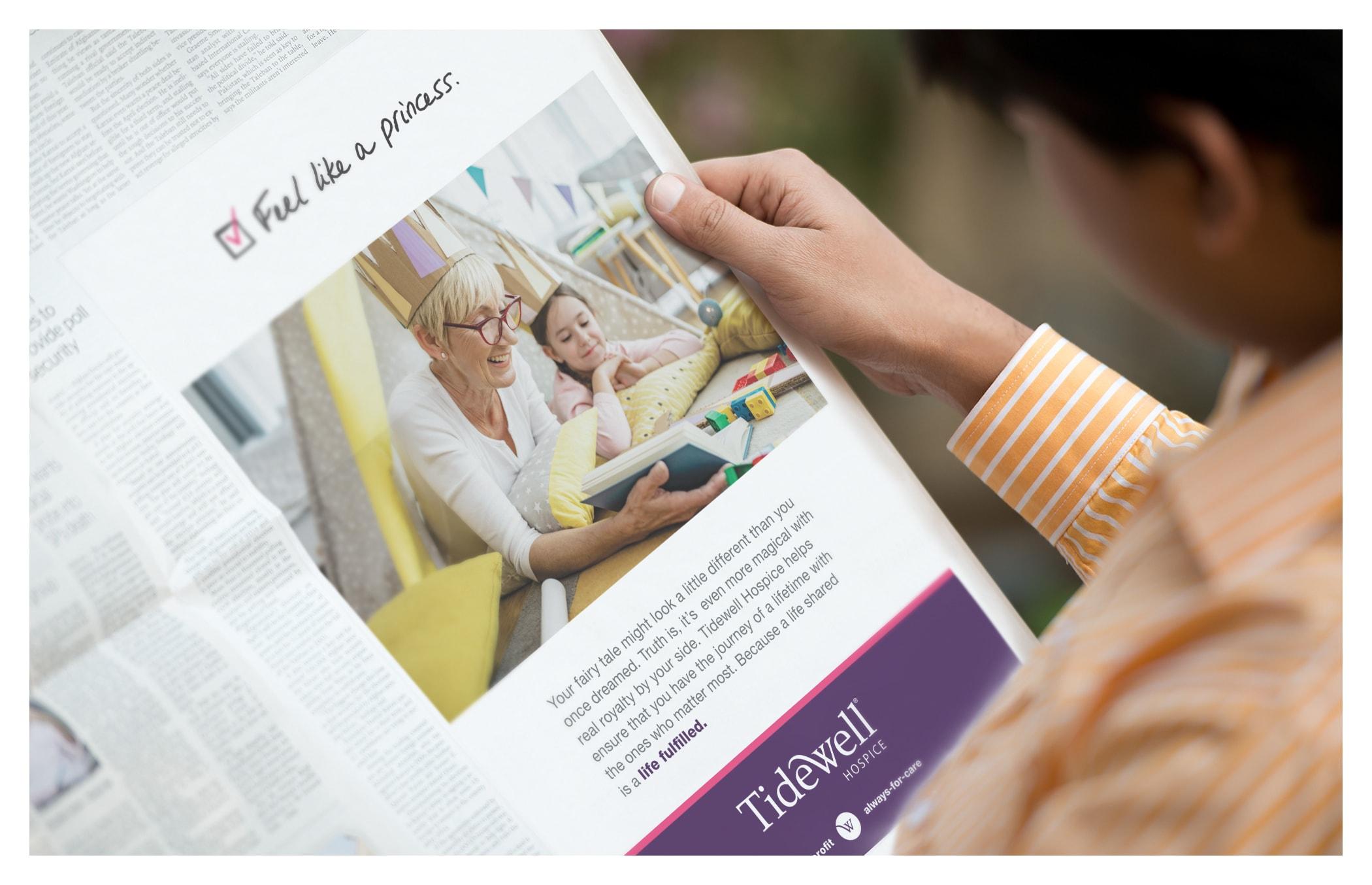 Tidewell Hospice Print Ad - Feel Like a Princess